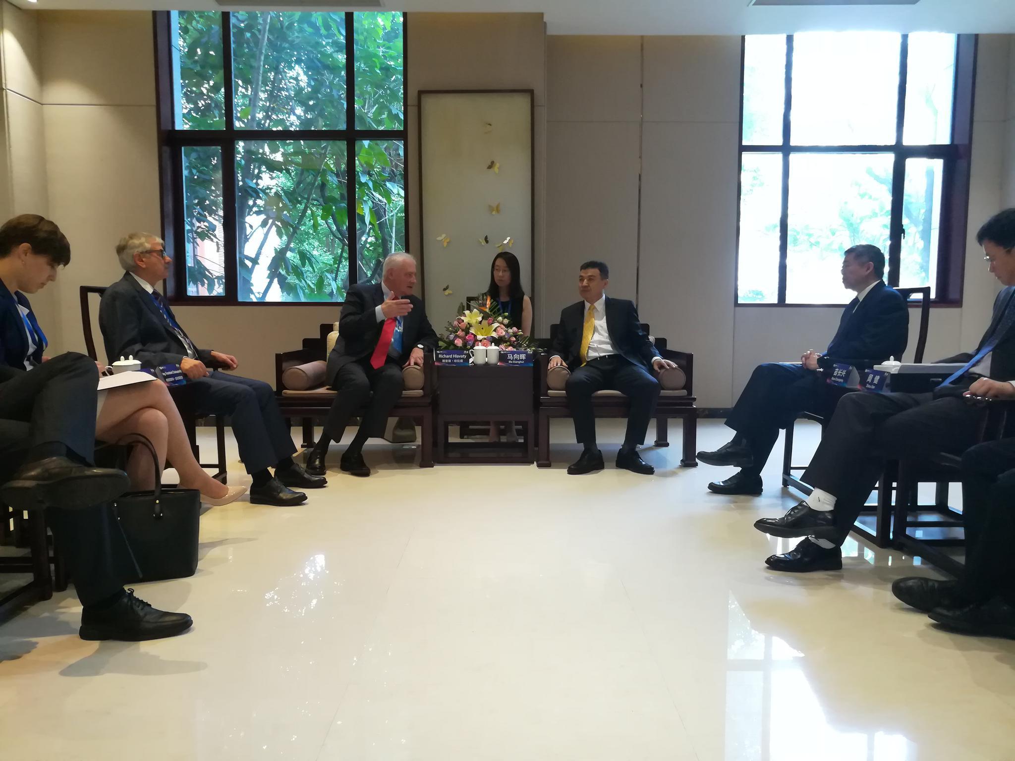 中小企业局局长会见捷克工贸部对外经贸厅厅长