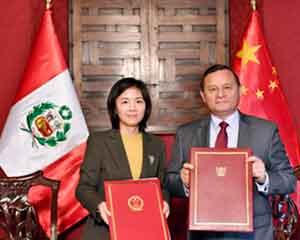 驻秘鲁使馆临时代办李昀拜会秘外长波波利西奥