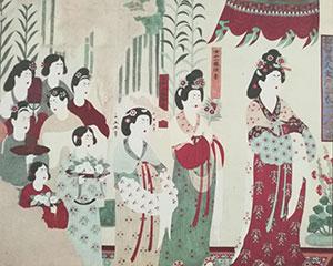"""敦煌壁画服饰""""走出洞窟"""" 现千年古丝路审美时尚"""