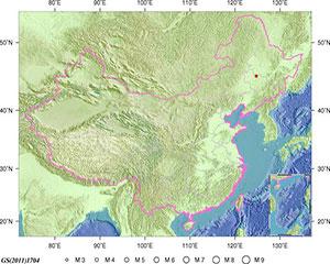4月23日1时46分吉林松原市宁江区发生3.4级地震