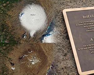 """Ok冰川""不OK,冰岛为该国首座消融冰川举行道别会"